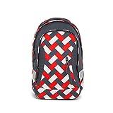 satch Sleek Chaka Bricks, ergonomischer Schulrucksack, 24 Liter, extra schlank, Rot/Weiß/Schwarz