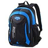 Schulranzen Jungen, Fanspack Schultasche Schulrucksack Jungen Teenager Rucksack Backpack Rucksäcke Teenager School Bag (Blau 02)