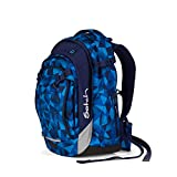 satch Match, Blue Crush ergonomischer Schulrucksack, erweiterbar auf 35 Liter, extra Fronttasche