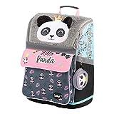 Schulranzen Mädchen 1. Klasse - Ergonomische Schultasche für Kinder - Schulrucksack mit Brustgurt - Grundschule Ranzen (Panda)