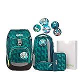 Ergobag Pack WunderBär, ergonomischer Schulrucksack, Set 6-teilig, 20 Liter, 1.100 g, Blau