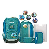 Ergobag Pack MonstBärfreunde, ergonomischer Schulrucksack, Set 6-teilig, 20 Liter, 1.100 g, Blau