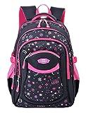 Schulrucksack,Coofit Schulrucksack Mädchen Teenager Kinderrucksack Daypack Schultasche Grundschule Backpack Schulranzen für Mädchen Jungen Teenager Jugendliche (Rosy).