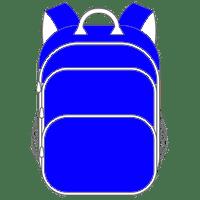 Schulranzen und Schulrucksack blau
