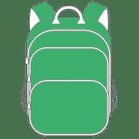 Schulranzen und Schulrucksack grün