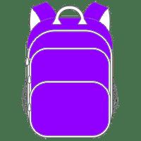 Schulranzen und Schulrucksack lila