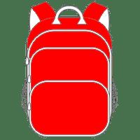 Schulranzen und Schulrucksack rot