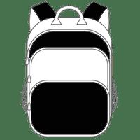 Schulranzen und Schulrucksack schwarz weiß