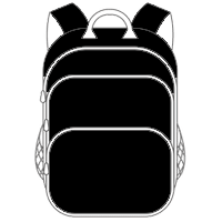 Schulranzen und Schulrucksack schwarz
