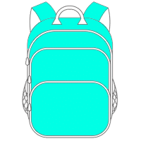 Schulranzen und Schulrucksack türkis
