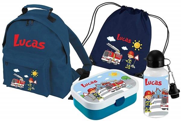 Kindergartenrucksack mit Namen Jungen