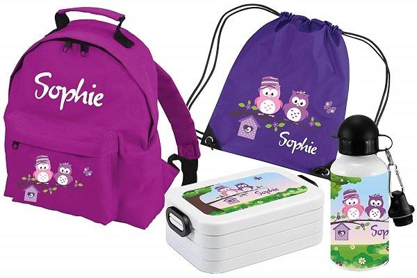 Kindergartentasche mit Namen Mädchen